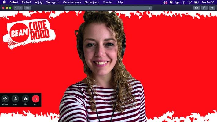 Gebruik deze Code Rood-achtergrond in jouw online les! (of werkoverleg)